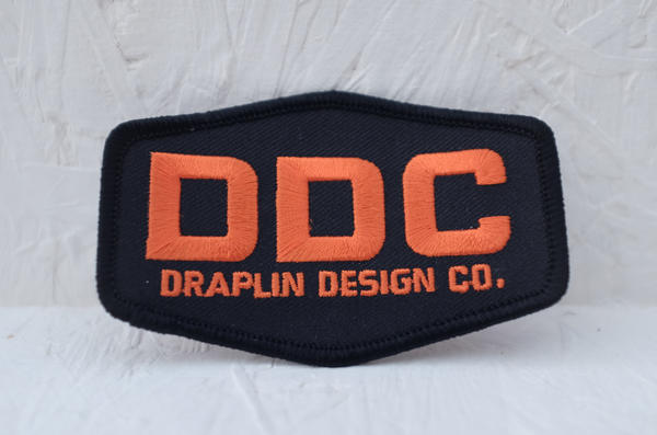 DDC Embroidered Patch - Black & Orange by Draplin Design Co.