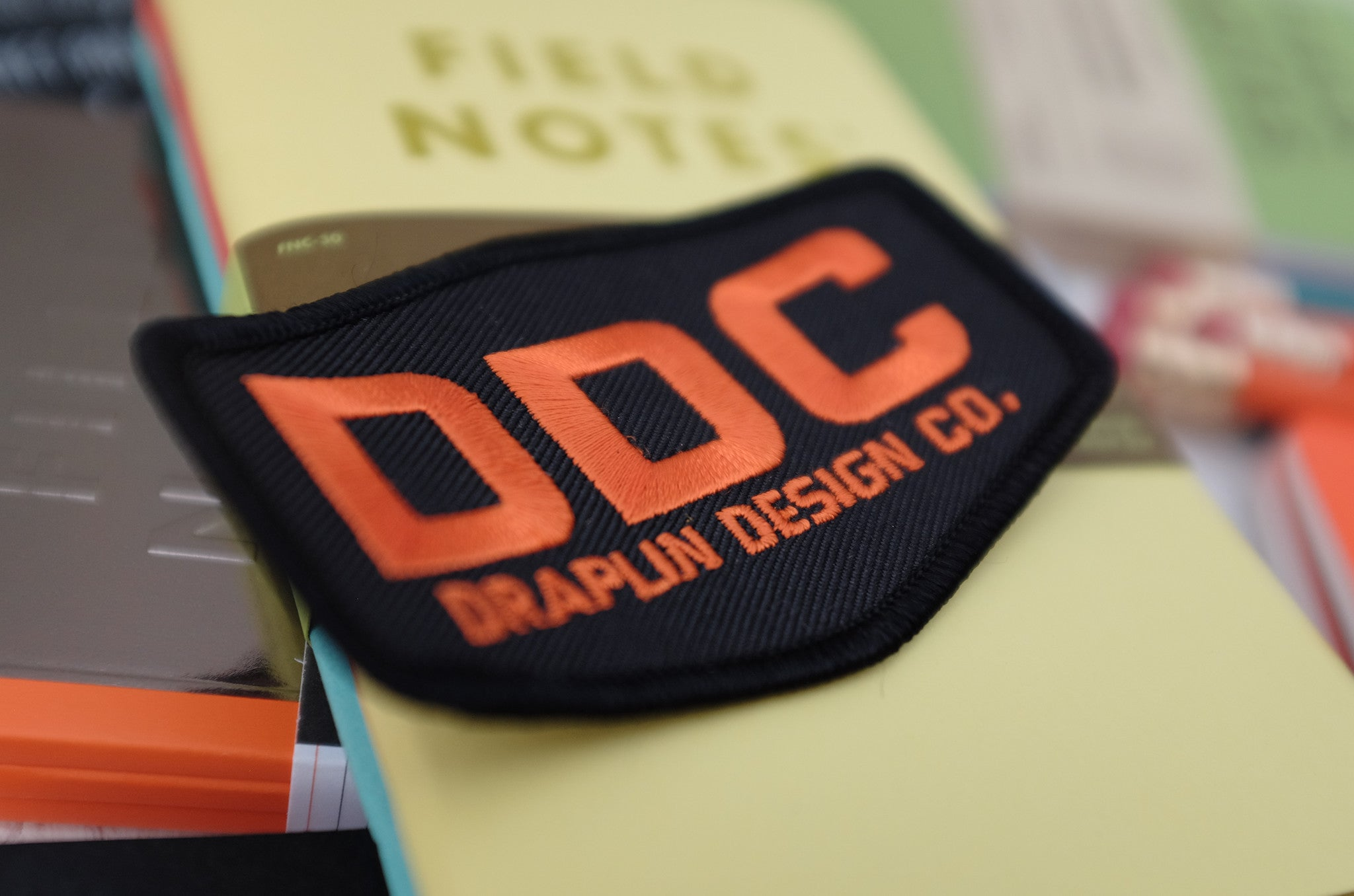 DDC Embroidered Patch - Black & Orange