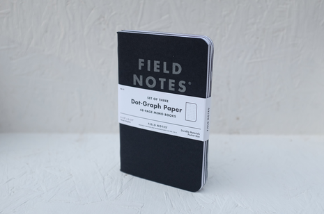 Field Notes notebooks - 'Pitch Black' 3-pack by Draplin Design Co.