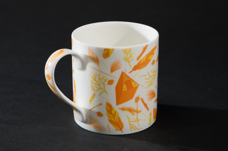 Nest Building Orange Mug by B Goods