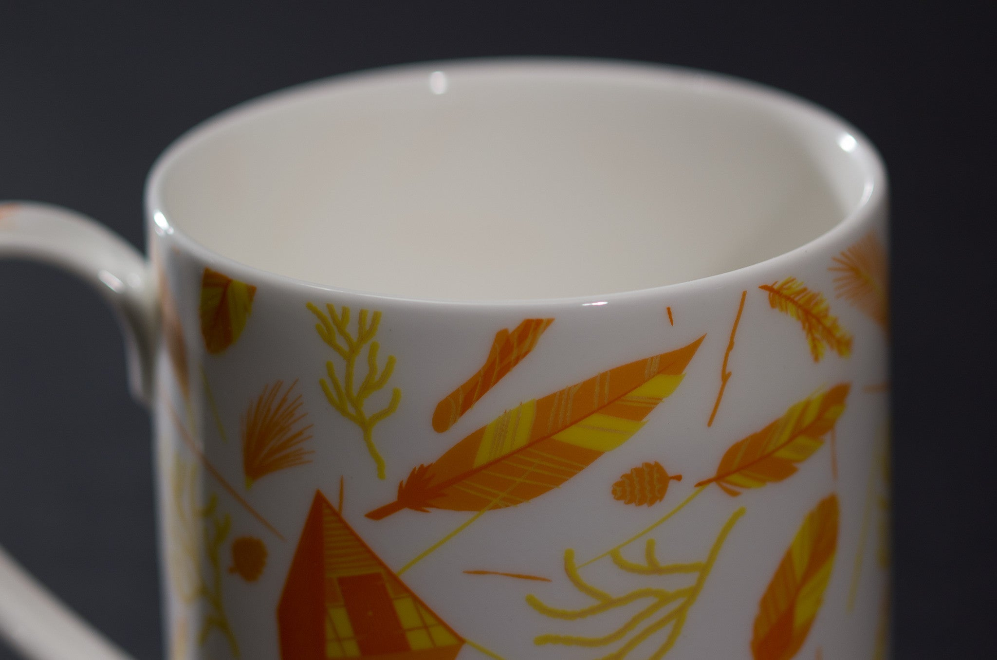 Nest Building Orange Mug