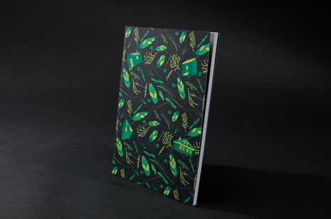 Nest building Green Notebook by B Goods