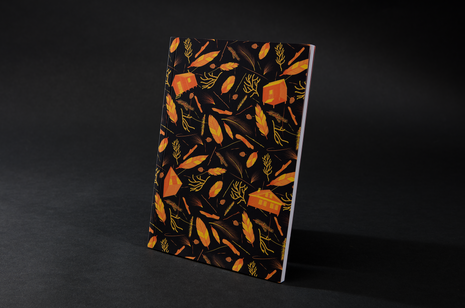 Nest building Orange Notebook by B Goods