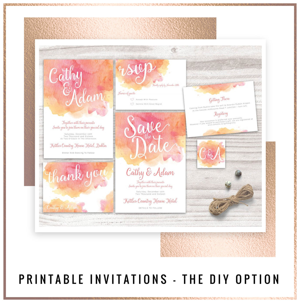 Printable Invitations - the DIY Wedding stationery option