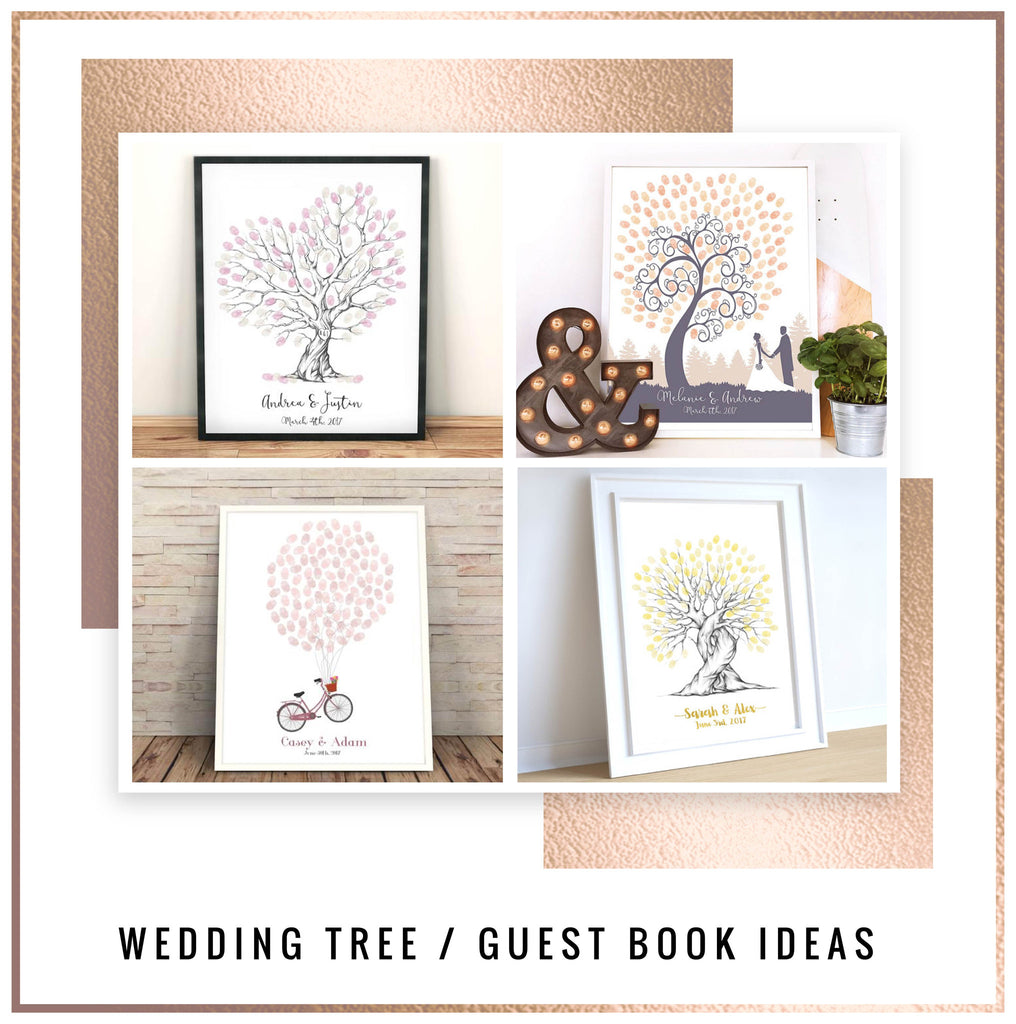 Wedding Tree / Fingerprint Tree ideas,  - the perfect alternative to a wedding guest book