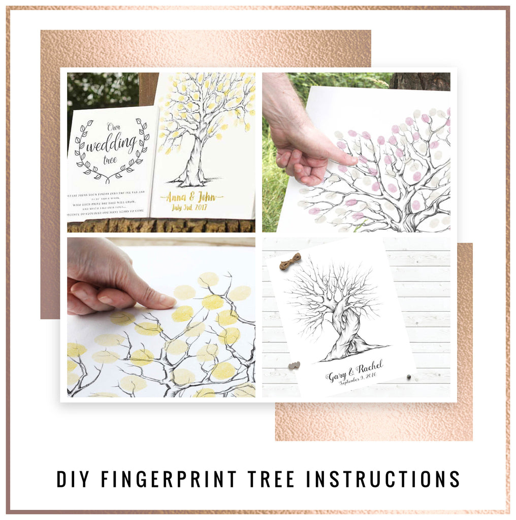 Wedding fingerprint tree instructions