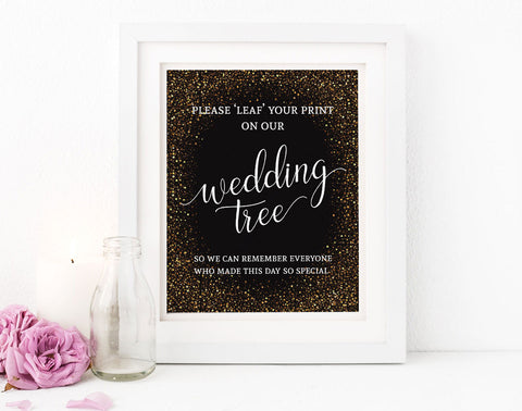 Free printable wedding tree instructions
