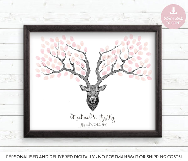 Deer fingerprint guestbook - Wedding Fusions