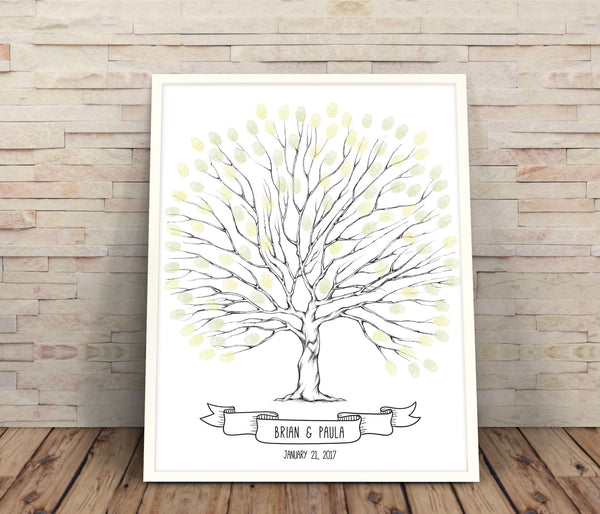 Tree wedding guest book - Wedding Fusions