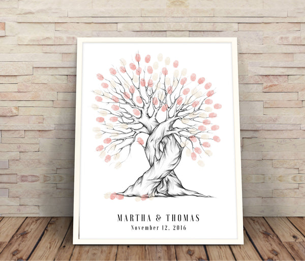 Thumbprint wedding guest book - Wedding Fusions