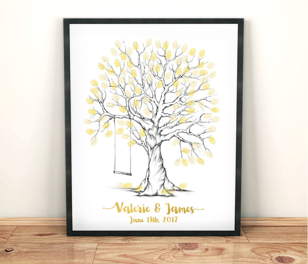 Gold Fingerprint Tree - Wedding Fusions