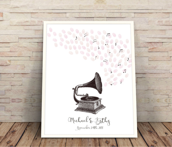Musical gramophone guestbook - Wedding Fusions