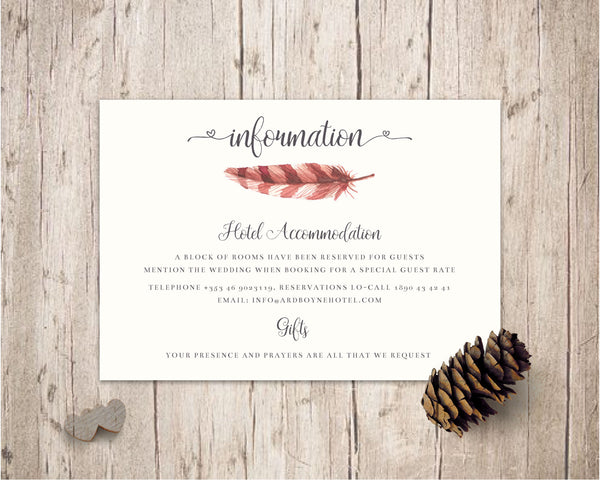 Stationary Suite - Rustic Floral - Wedding Fusions