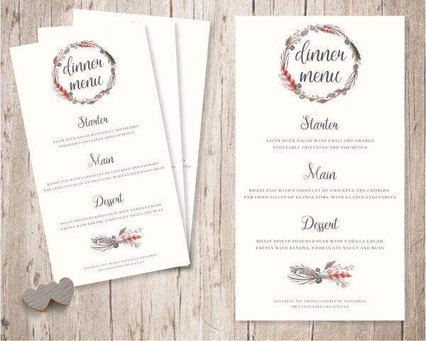 Rustic Floral - Wedding Table Decor - Wedding Fusions