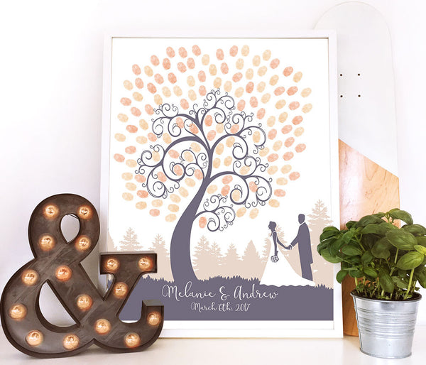 Silhouette Fingerprint Guest book