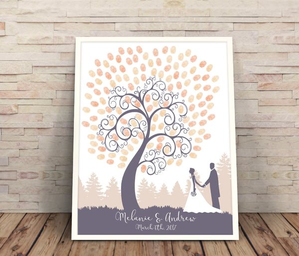 Silhouette Fingerprint Guest book - Wedding Fusions