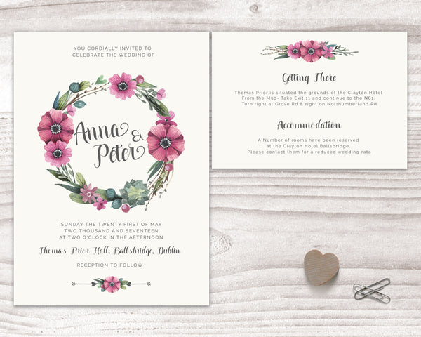 Stationary Suite - Floral - Pink Champagne - Wedding Fusions