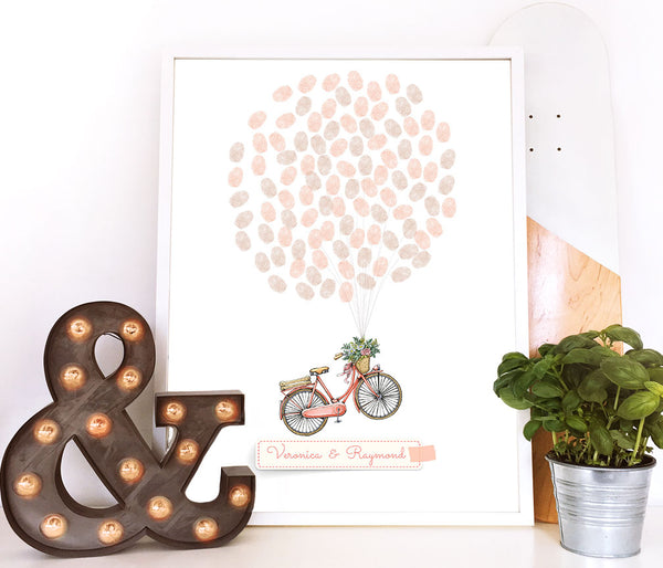 Bicycle finger print guestbook