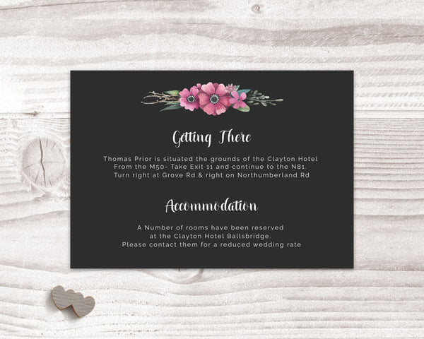 Stationary Suite - Black Floral - Wedding Fusions