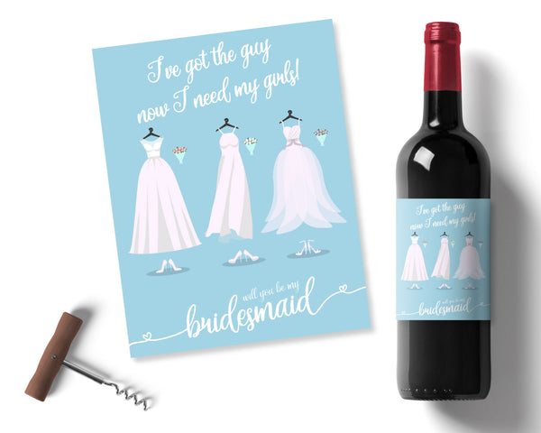 Bridesmaid Wine label - Wedding Fusions