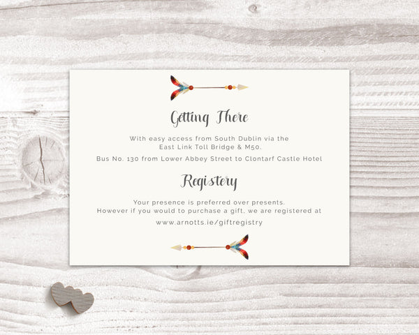Invitation Suite - Stationary Suite - Bohemian with Skull & Feathers - Wedding Fusions - 6