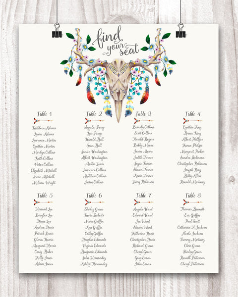 Wedding Seating Plan - Wedding Fusions