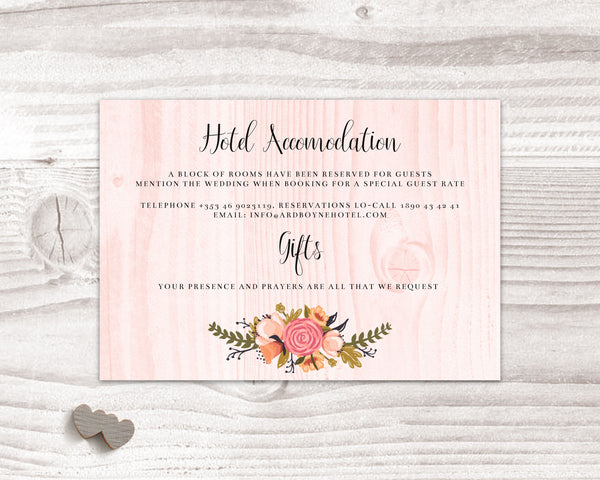 Stationary Suite - Peach & Floral - Wedding Fusions