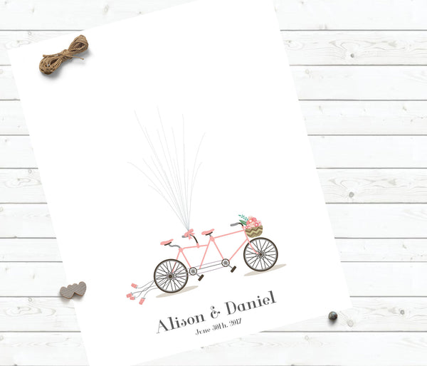 Tandem Bicycle guestbook - Wedding Fusions