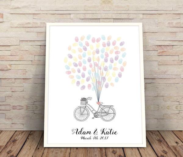 Wedding Tree - Bicycle fingerprint guestbook - Wedding Fusions - 1