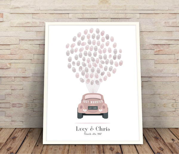 Car fingerprint guestbook - Wedding Fusions