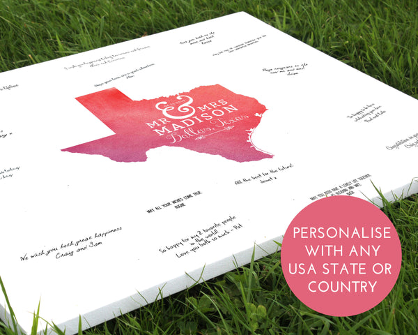 Map wedding guestbook - Wedding Fusions