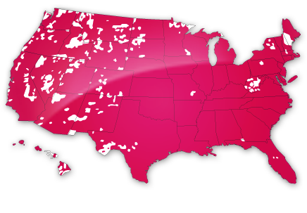 Direct Mobile Help Alert SOS CareCaller With Voice Pendant - Us mobile service map