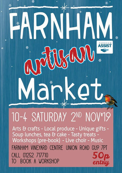 Farnham Artisan Market in the Vineyard Centre | Kazakhsha Leather Art Studio