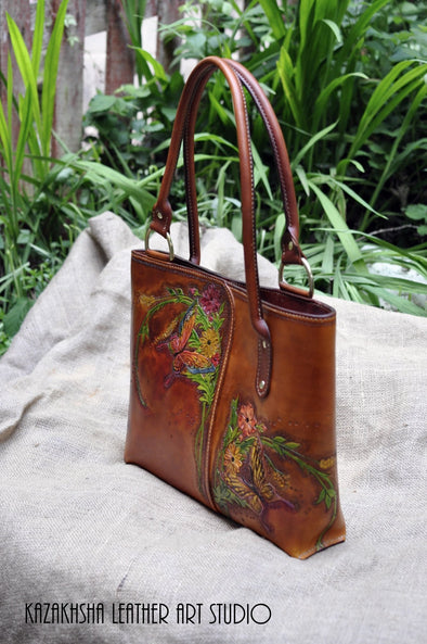 "New style of shopper tote bag ""Butterflies Garden"" 
