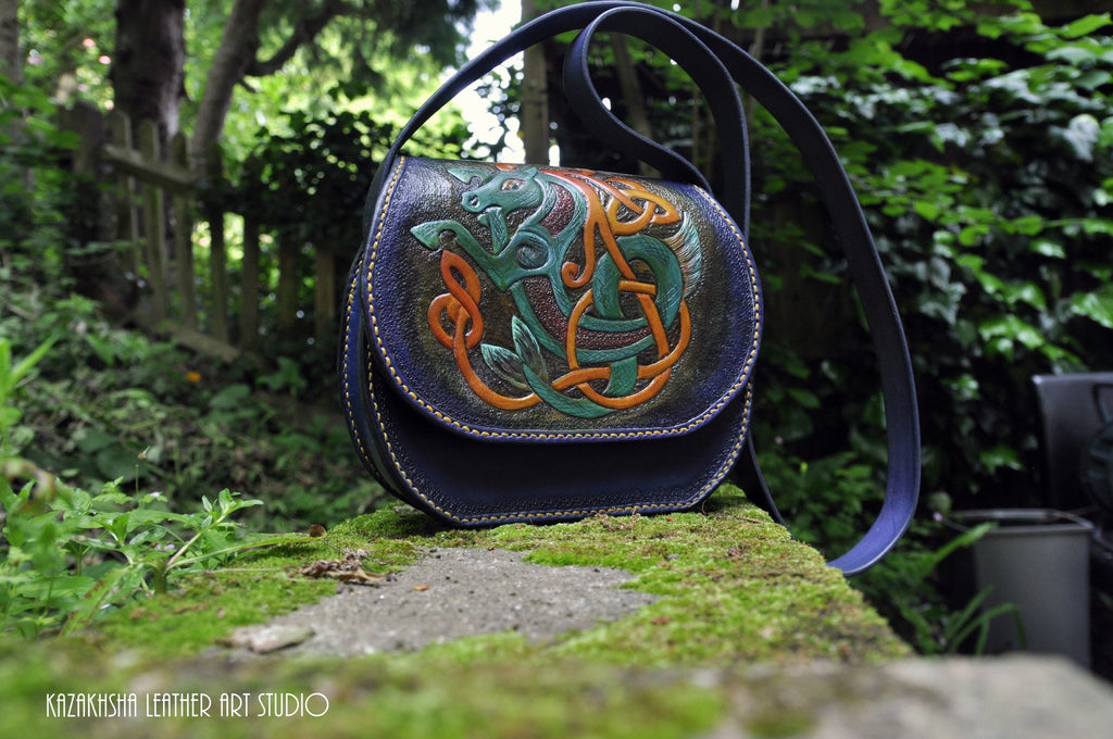 Searhorse Celtic shoulder bag