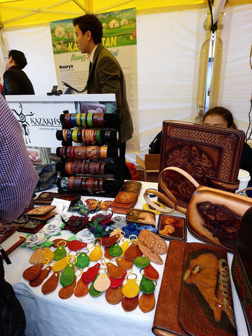 British leatherworkers and craft fairs