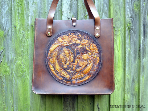 kazakhsha leather bag