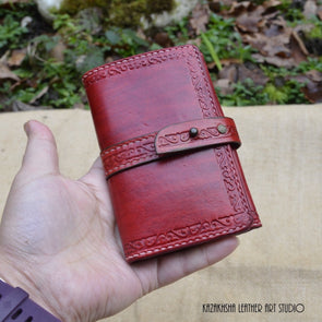 Handmade Trifold Leather Wallet (Made to Order) - Kazakhsha Leather Art Studio