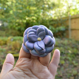 Light Shimmer Purple Camelia Leather Flower Brooch - Kazakhsha Leather Art Studio