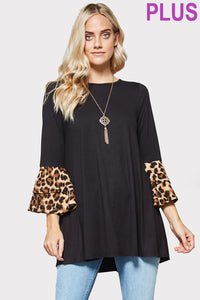 Leopard Contrast Top PLUS