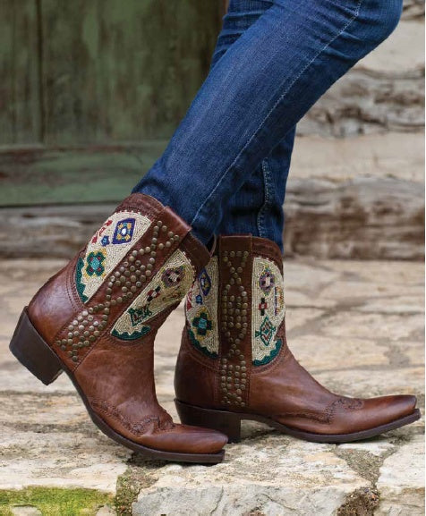 cayuse beaded boot