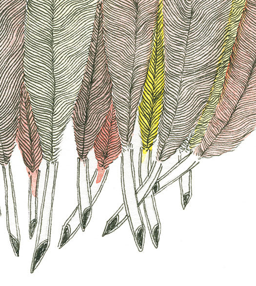 11 feathers_detail