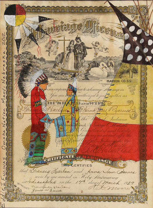 9 'As-Long-as-the-Grass-Grows...'-Ledger-Drawing-by-Eddie-Encinas-(Gahigezhinga)-_-Native-American-Ledger-Art-_-Omaha-Nation