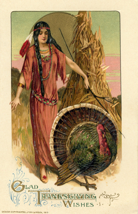Vintage Thanksgiving Postcard c. 1912 by John Winsch