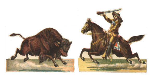 victorian die cut Buffalo Bill Cody