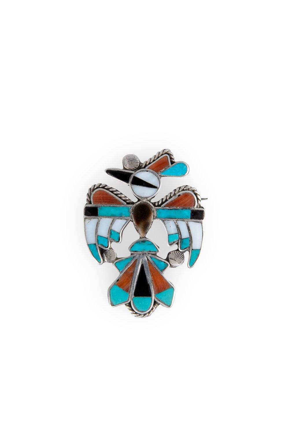 Pin, Zuni Inlay, Rainbird, Vintage, 318
