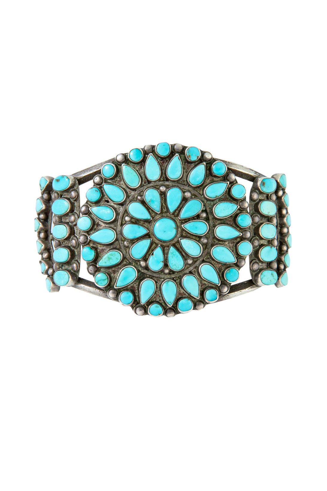 Cuff, Cluster, Turquoise, Vintage, 2419