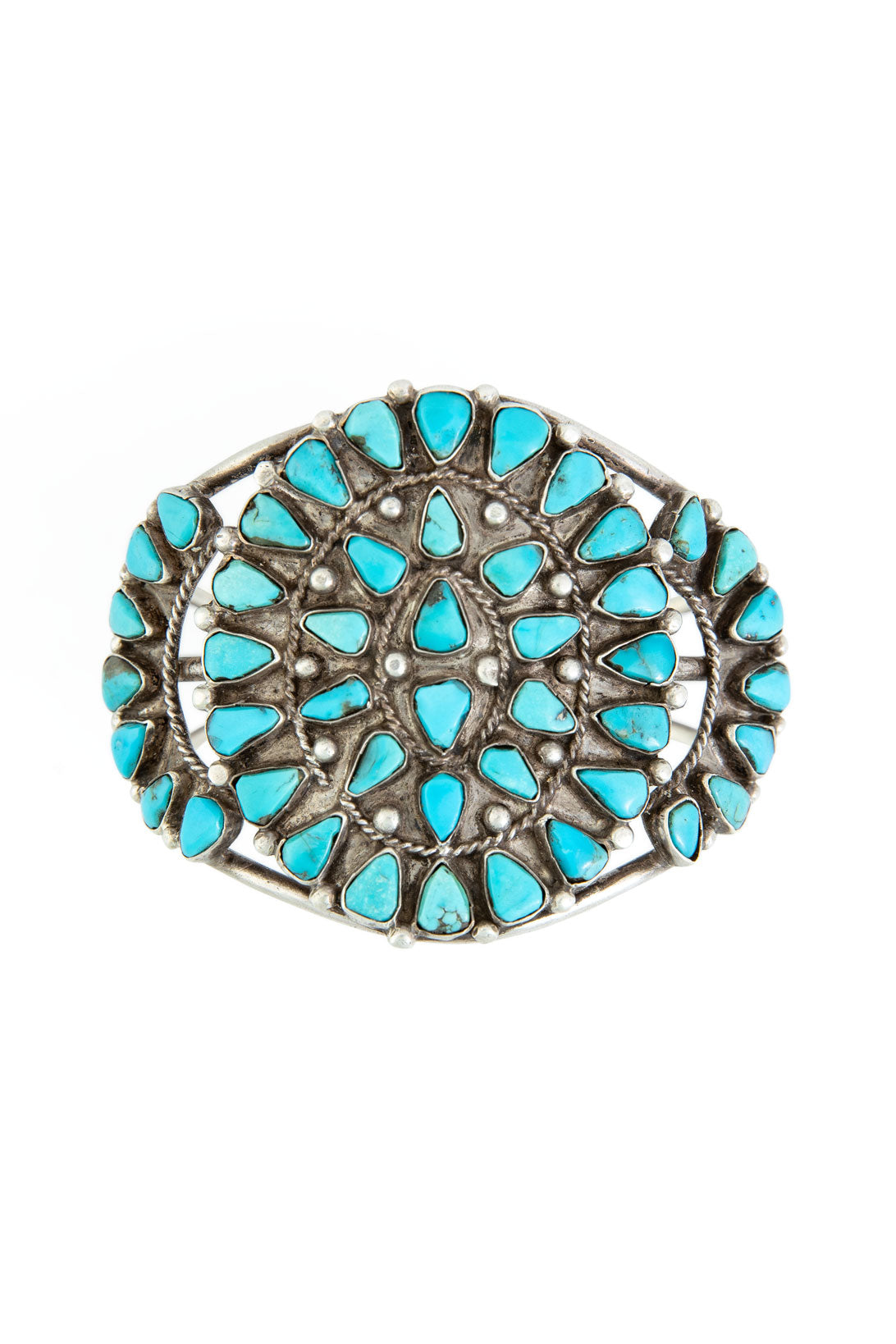 Cuff, Cluster, Turquoise, Vintage, 2431