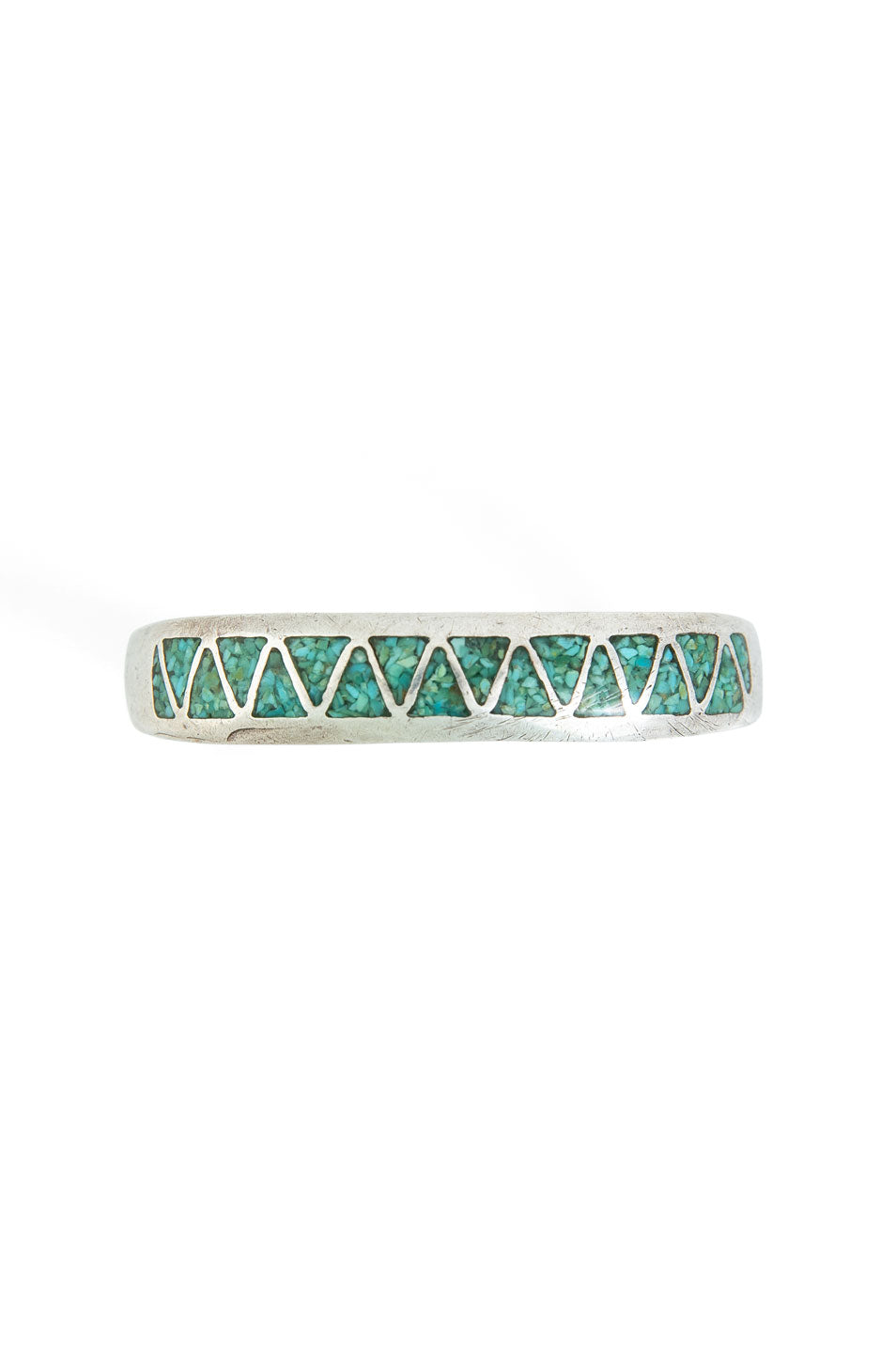 Cuff, Chip Inlay, Turquoise, 1970's, Vintage, 2428