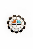 Vintage 1960's Zuni Sun Face Small Pin